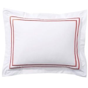 Pottery Barn Embroidered Pillowcase